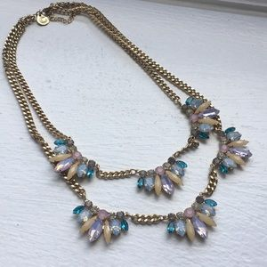 Capwell + Co gold and stone necklace